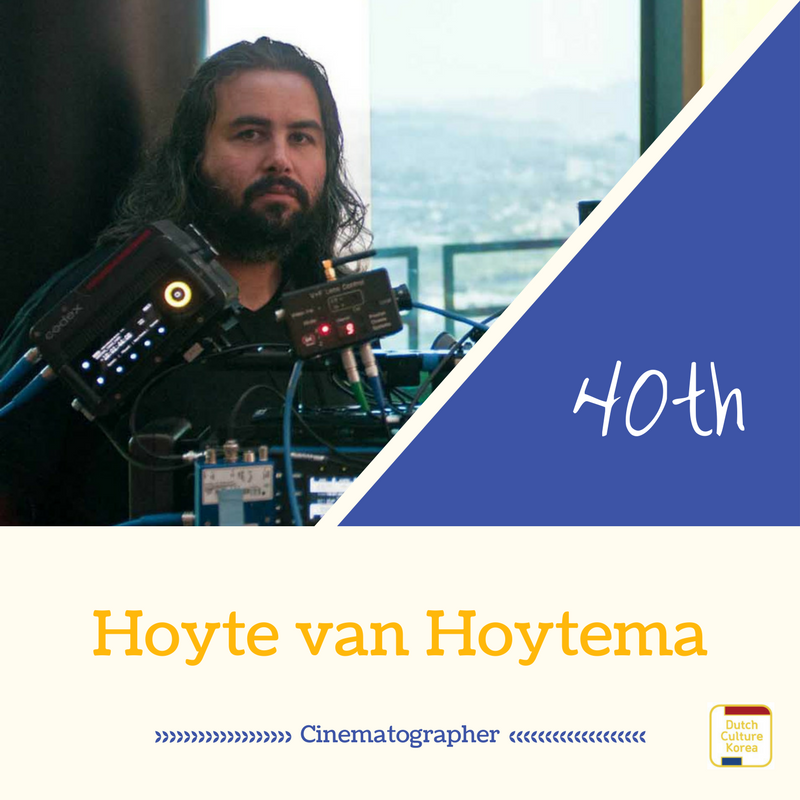 NRC Culture top100 40위를 차지한 영화 촬영 감독 호이트 반 호이테마(Hoyte van Hoytema)