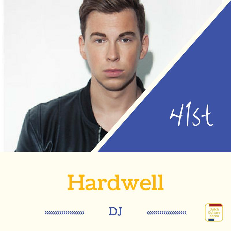 NRC Culture top100 41위를 차지한 DJ 하드웰(Hardwell)