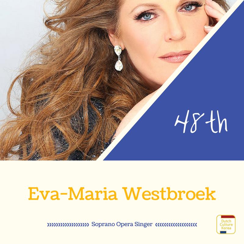 NRC Culture top100 48위에 오른 오페라 소프라노 에바-마리아 웨스트브룩(Eva-Maria Westbroek)