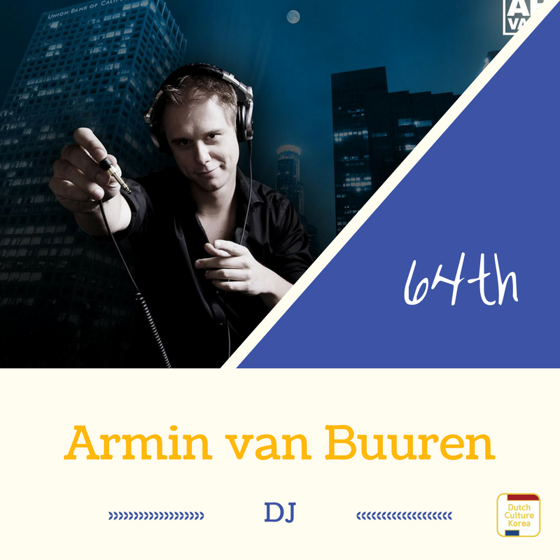 NRC Culture top100 64위를 차지한 DJ 아민 반 뷰런/아민 반 뷰렌(Armin van Buuren)