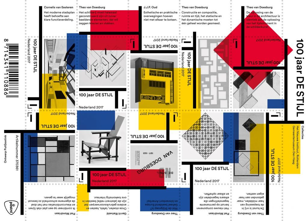Postage stamps '100 Years of De Stijl'