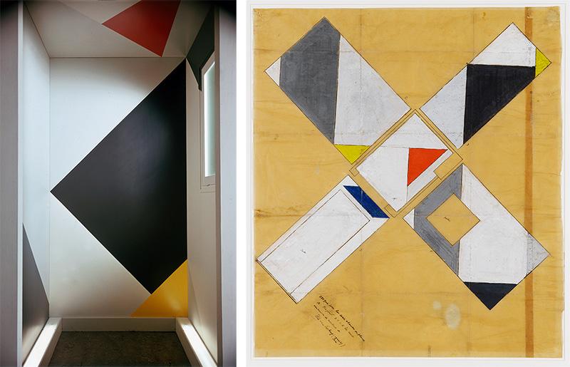 Theo van Doesburg, Flower room, Design color image of a flower room